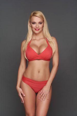 Corse piros Pyramid bikini
