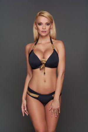 Capri arany-fekete Pyramid bikini