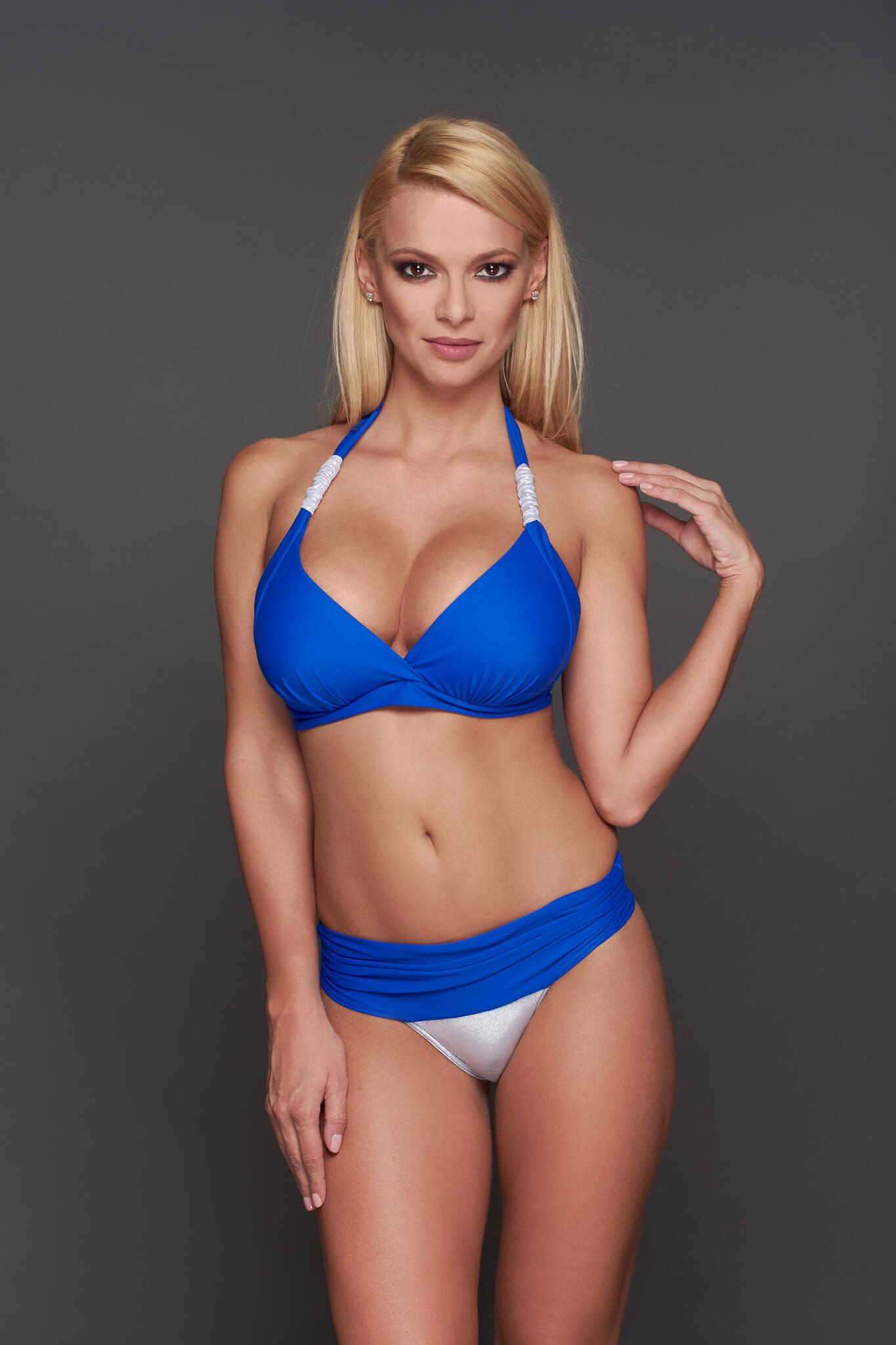 Corse kék-ezüst Pyramid-bikini - széles pánt 04d153ecac