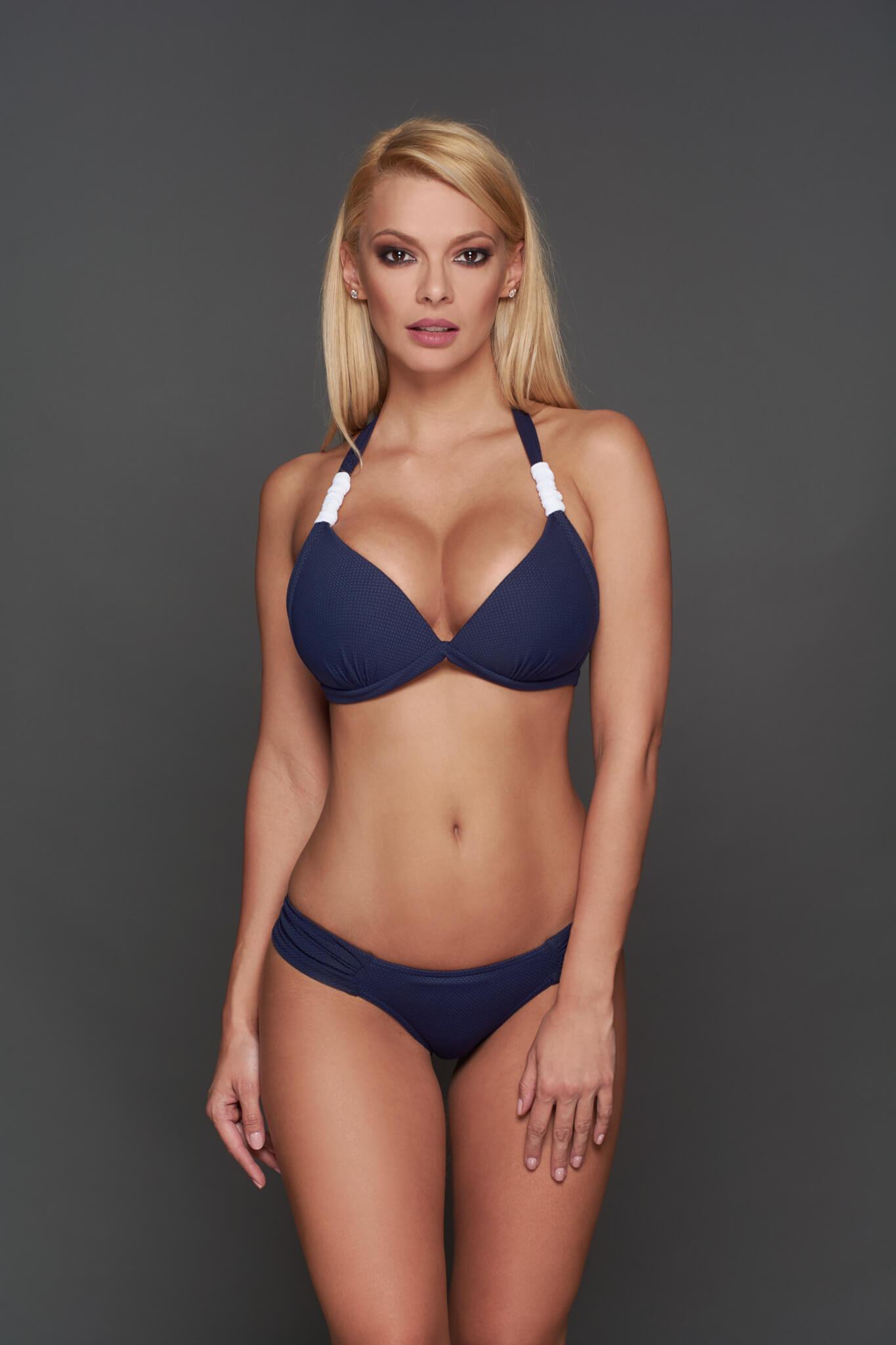 891709d0e Nice bikini, sötétkék-fehér