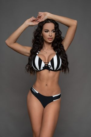 Copacabana fekete-fehér csíkos bikini
