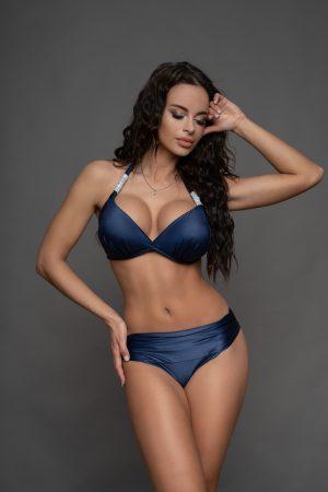 Corse metálkék-ezüst bikini