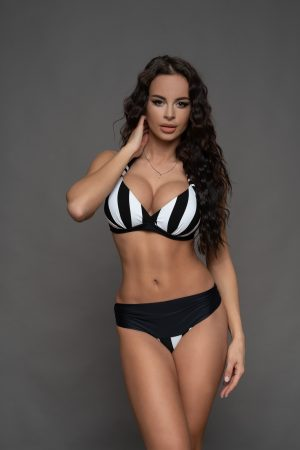 Corse bikini fekete fehér csíkos