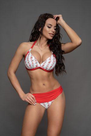 Corse bikini piros virágos
