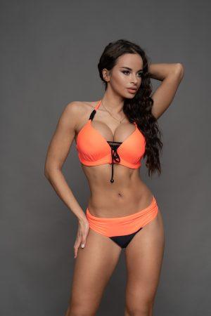 Korall-fekete Raguza bikini